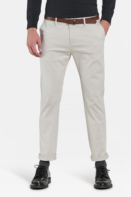 CHINO SKINNY FIT HOMME Blanc cassé
