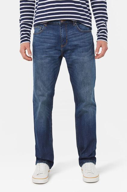 Jeans stretch relaxed tapered homme Bleu foncé
