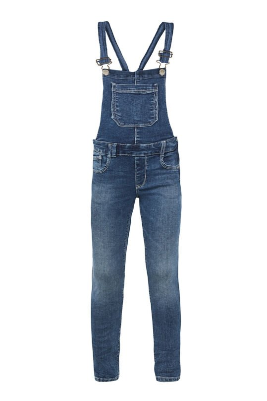 Salopette super skinny fit fille Bleu