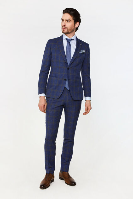 Costume slim fit à carreaux Celso homme