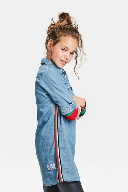 TUNIQUE DENIM FILLE Bleu eclair