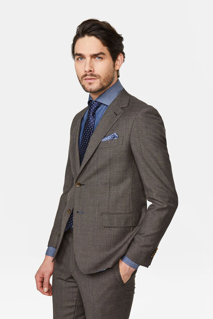 Blazer slim fit à carreaux Trente homme Brun