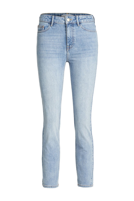 Jeans stretch high rise slim fit femme Bleu eclair