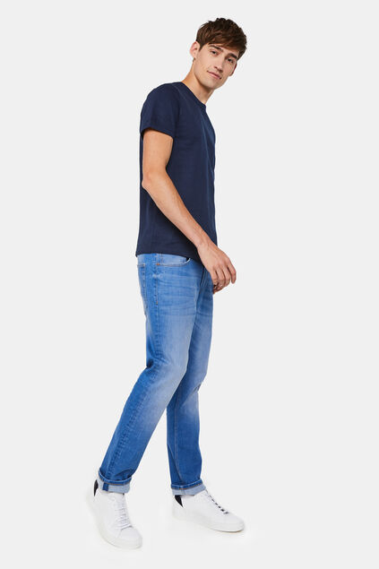 Jeans regular fit super stretch homme Bleu
