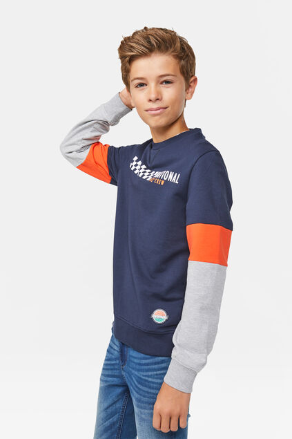 Sweat-shirt national crew garçon Bleu marine