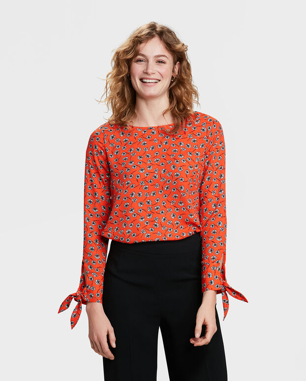 TOP BOW SLEEVE FEMME Orange