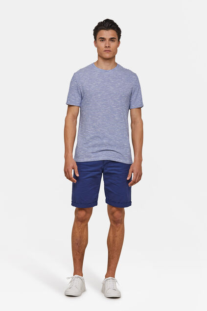 BERMUDA REGULAR FIT CHINO HOMME Bleu