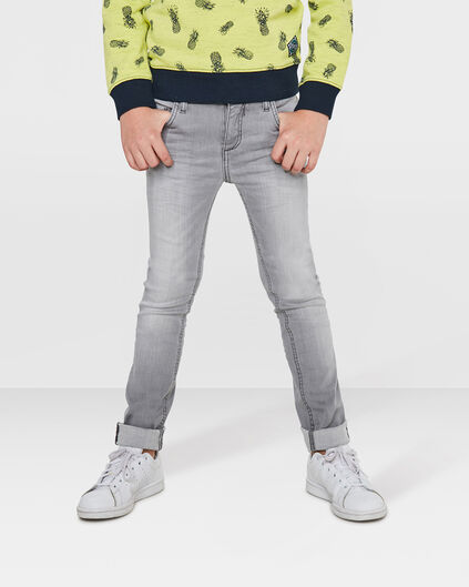 JEANS SUPER SKINNY POWER STRETCH GARÇON Gris