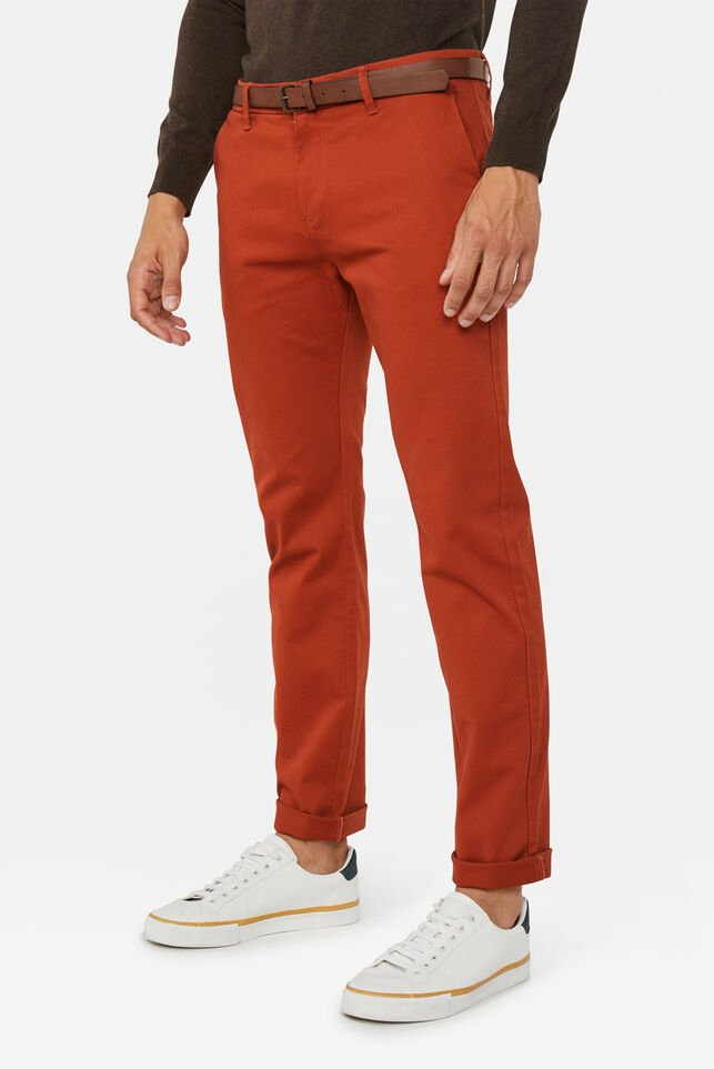 Skinny fit pantalon homme Rouge eclair