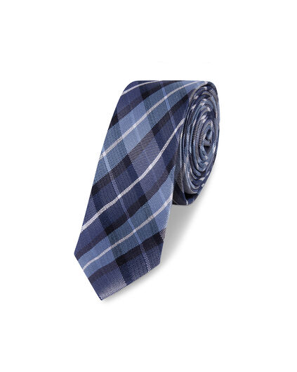 CRAVATE CHECKED DESSIN HOMME Bleu marine
