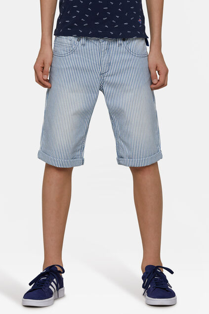 Short denim regular fit garçon Blanc