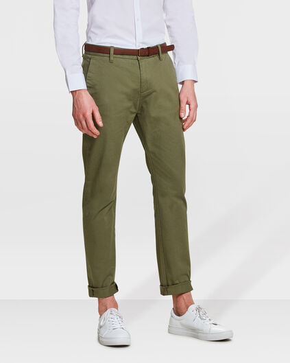 CHINO SKINNY FIT HOMME Vert olive
