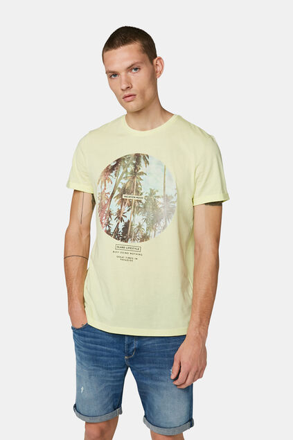 T-shirt vacation print homme Jaune clair