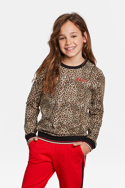 SWEAT-SHIRT PANTHER PRINT FILLE Brun