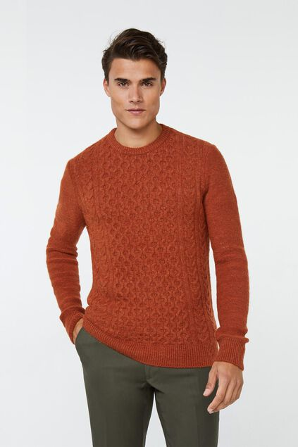 Pull tricoté homme Rouge