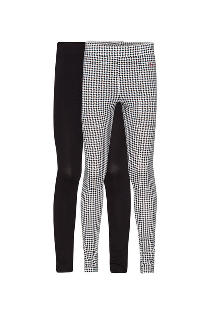Leggings fille, pack de 2 Noir