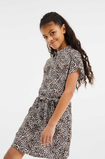 Robe chemisier à rayures fille Multicolore
