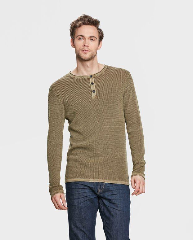 PULL STRUCTURE HOMME Vert mousse