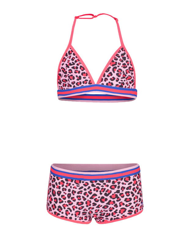 BIKINI SPORTY ANIMAL PRINT FILLE Rose