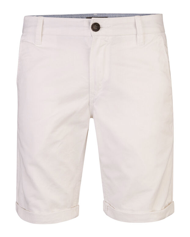 BERMUDA REGULAR FIT CHINO HOMME Blanc