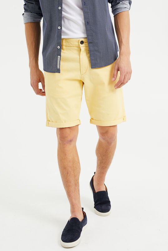 Short chino slim fit homme Jaune clair