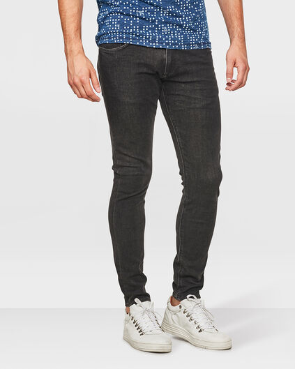JEANS SUPER SKINNY TAPERED 360° STRETCH HOMME Noir