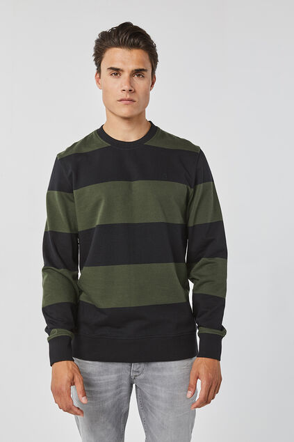 Sweat-shirt slim fit homme Vert armee