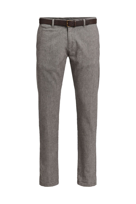 Chino slim fit à motif homme Brun