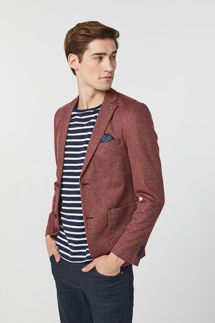 Blazer skinny fit homme Bordeaux