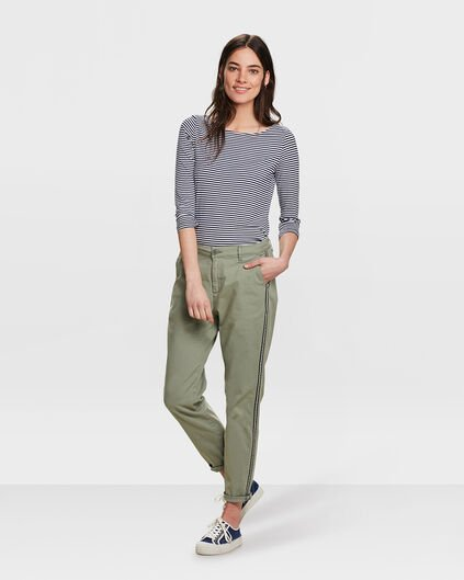 PANTALON CHINO RELAXED FIT FEMME Vert olive