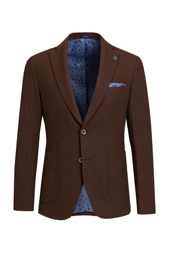 Veston slim fit Vermont homme Brun Cannelle