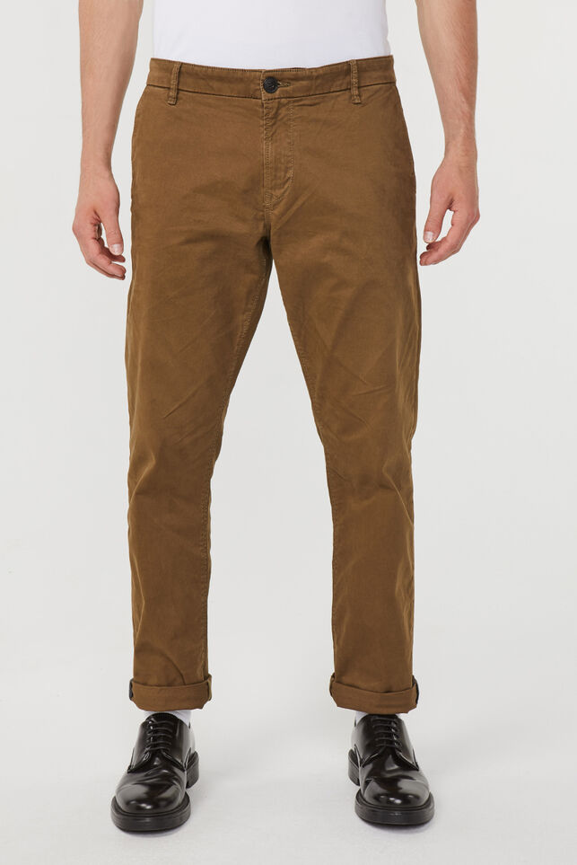 Chino droit regular fit homme Brun