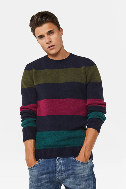 Pull rayé homme Multicolore