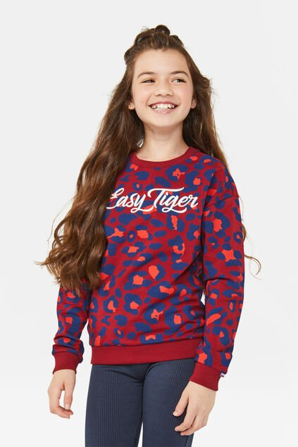Sweat-shirt easy tiger fille Rouge foncé