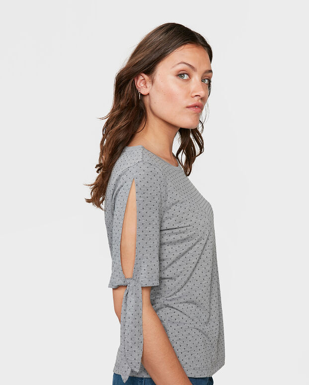 TOP COLD SHOULDER FEMME Gris