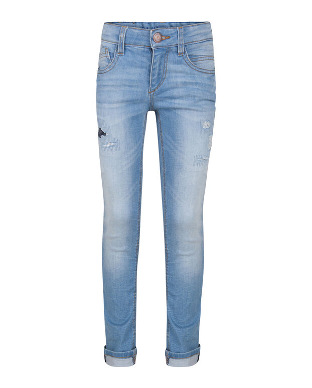 JEANS SUPER SKINNY POWER STRETCH REPAIR GARÇON Bleu