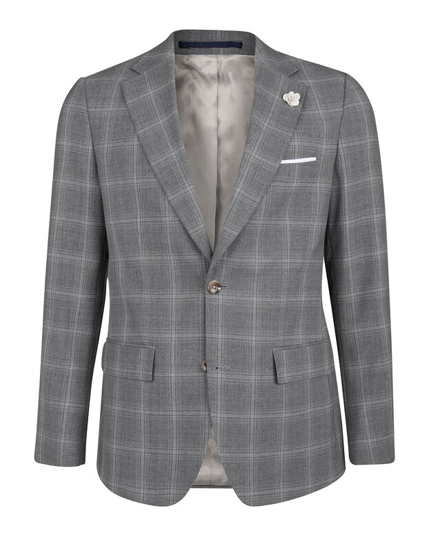 BLAZER SLIM FIT CHECK CAMDEN HOMME Gris clair