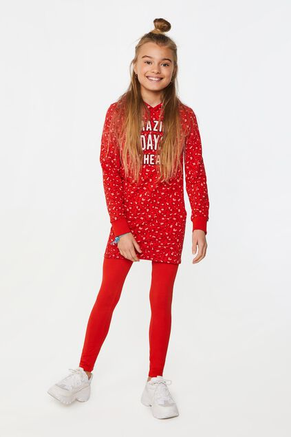 Robe à motif camouflage fille Rouge