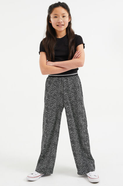 Pantalon loose fit à pois fille Imprimé