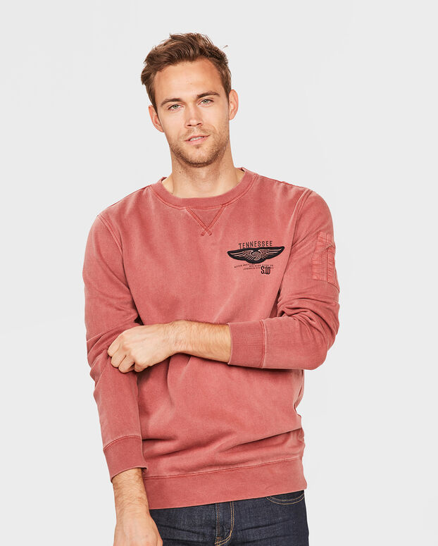 SWEATER RELAXED FIT HOMME Rouge foncé