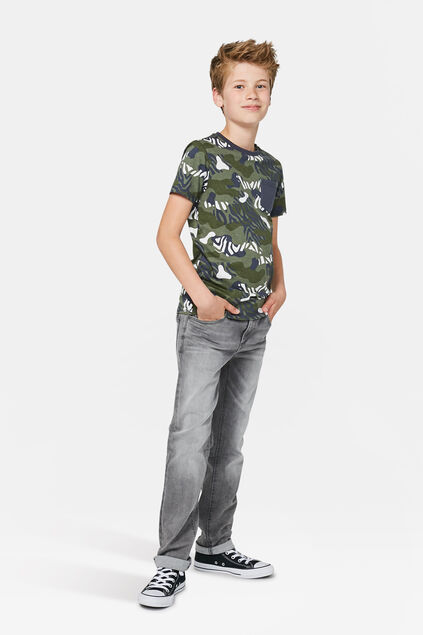 Jeans regular fit garçon Gris