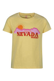 T-shirt à imprimé Nevada fille_T-shirt à imprimé Nevada fille, Jaune clair