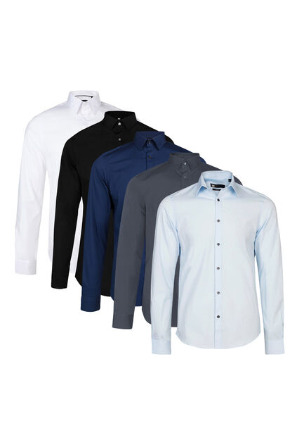 Chemise slim fit stretch homme pack de 5