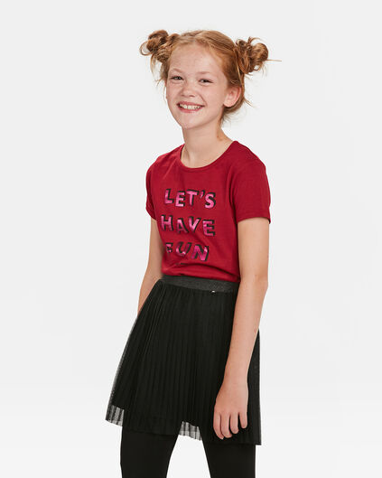 T-SHIRT FUN PRINT FILLE Bordeaux