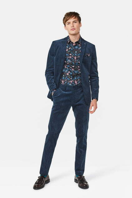 Costume slim fit en velours homme