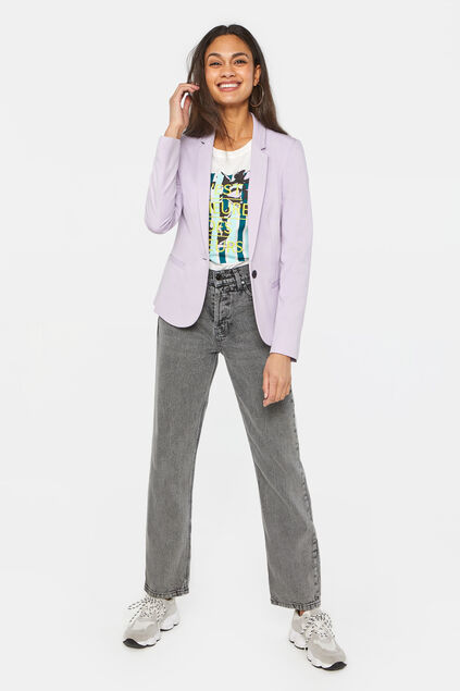 Blazer regular fit femme Violet clair