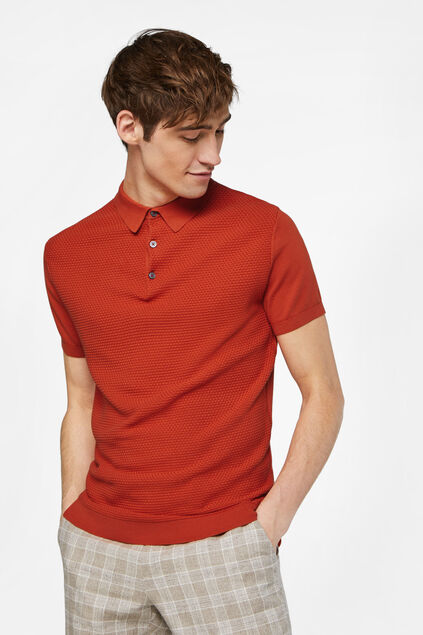 Polo à structure homme Rouge vif