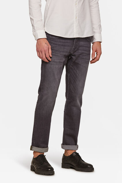 Jeans regular straight homme Gris