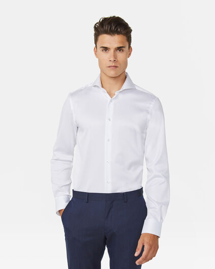 CHEMISE SLIM FIT LUXURY COTTON HOMME Blanc