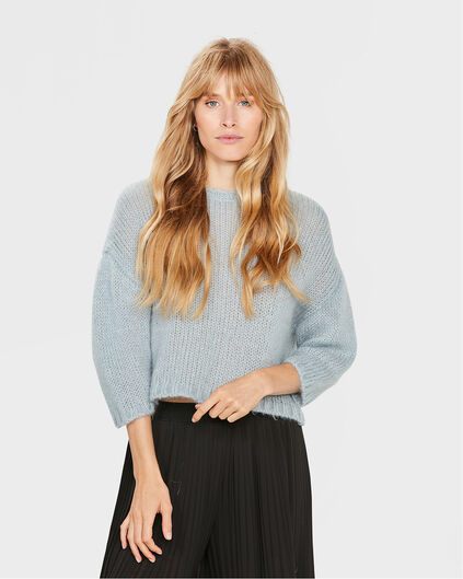 PULL CROPPED STER FEMME Bleu eclair